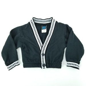 90s All Dressed Up 12M Acrylic Sweatshirt Cardigan